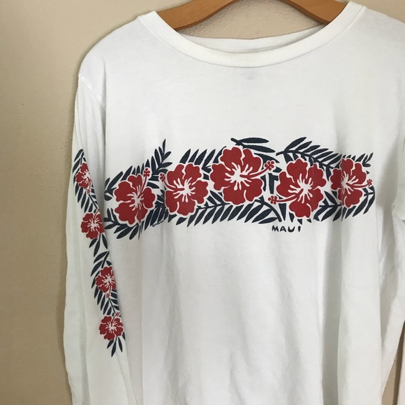 9aeeaf9d1b Vintage Hawaii Graphic Long Sleeve Tee S/M